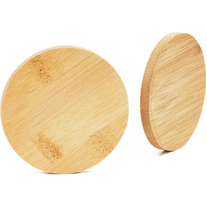 Round Bamboo Coasters Set (12 Pack)