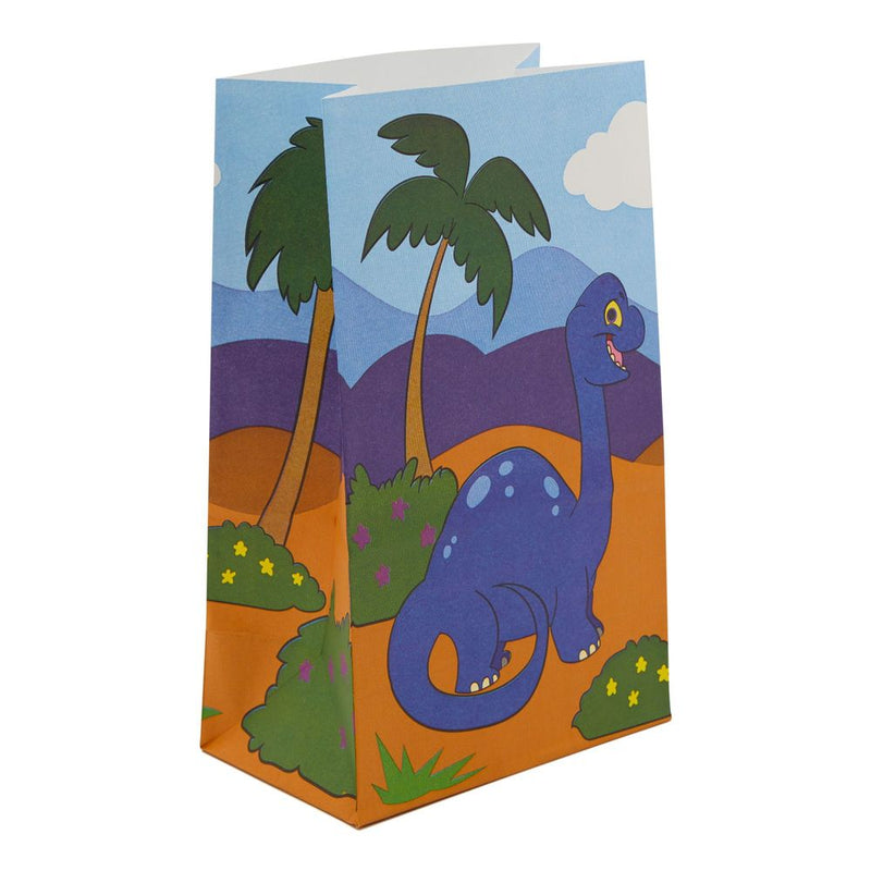 Dinosaur Paper Party Favor Gift Bags For Kids Birthday, Dino Goodies (36 Pack)