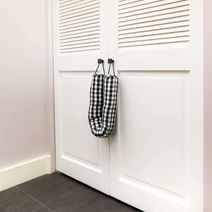 Weighted Heavy Duty Sand Door Stop, Black Draft Stopper (3.3 Lbs, 33.5 in)