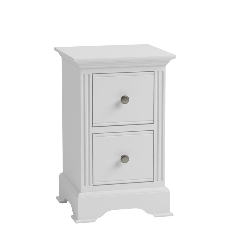 Cambridge White Painted Small Bedside Chest