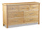 New Trinity Oak 3 Over 4 Drawer Wide Chest