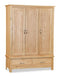 New Trinity Oak Triple Wardrobe