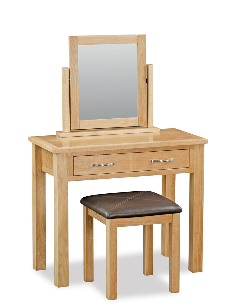 New Trinity Oak Dressing Table Set