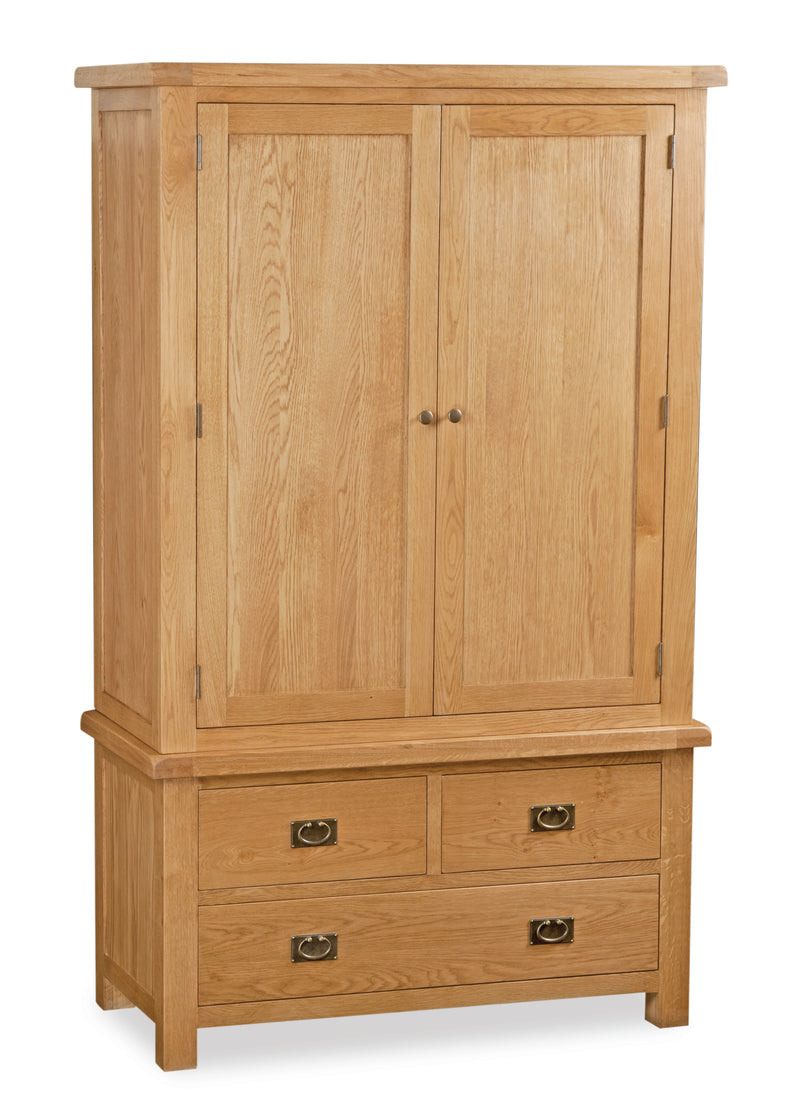 Salisbury Oak Gents 3 Drawer Wardrobe