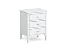 Hampstead White 3 Drawer Bedside Chest