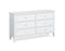 Hampstead White 3 + 3 Drawer Wide Chest