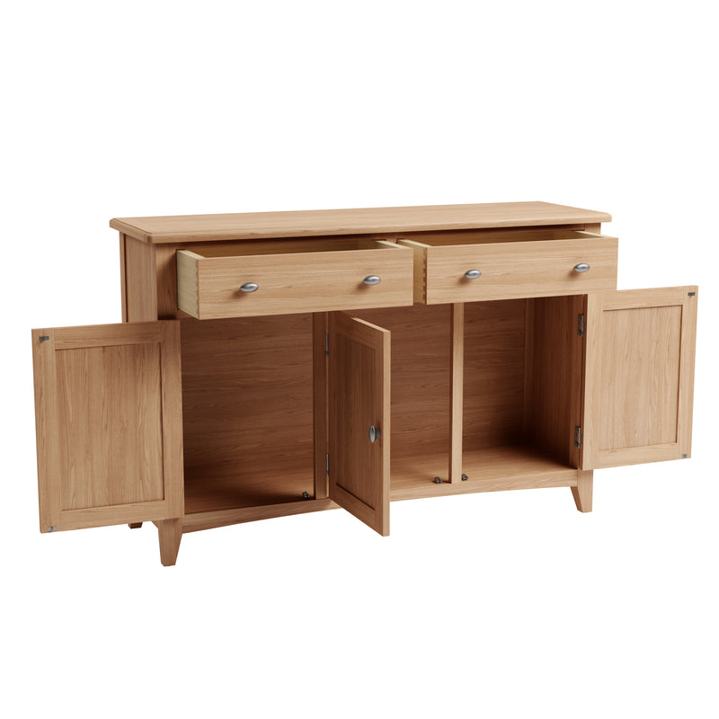 Hurst Natural Oak 3 Door Sideboard