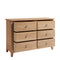 Hurst Natural Oak 6 Drawer Chest
