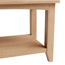 Hurst Natural Oak Small Coffee Table with Shelf