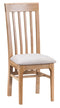Newton Oak Slatted Back Fabric Dining Chair