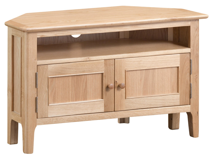 Newton Oak Corner TV Cabinet