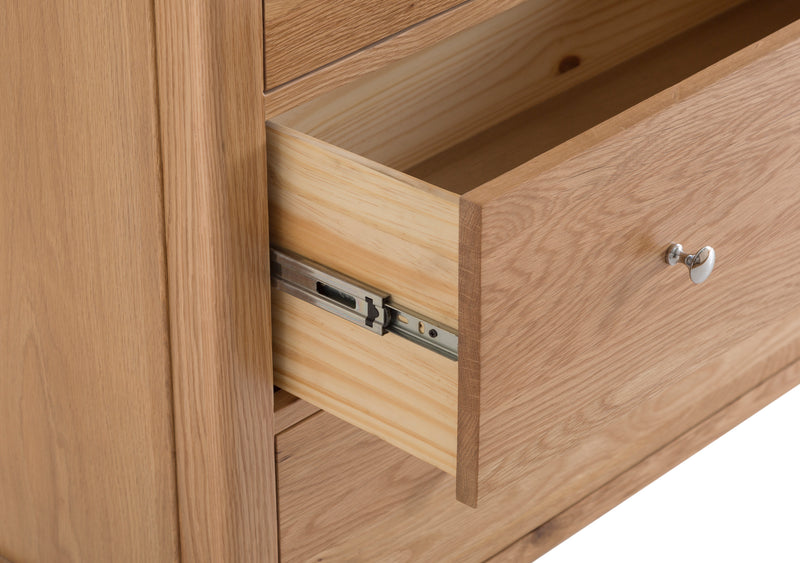 Newton Oak Jumbo 2 Over 3 Drawer Chest