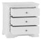 Seville White 3 Drawer Chest Of Drawers