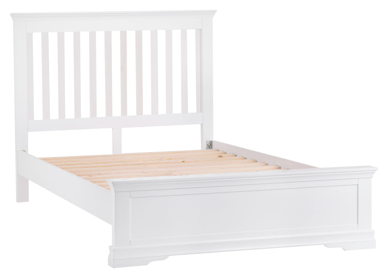 Seville White 4'6 Double Bed