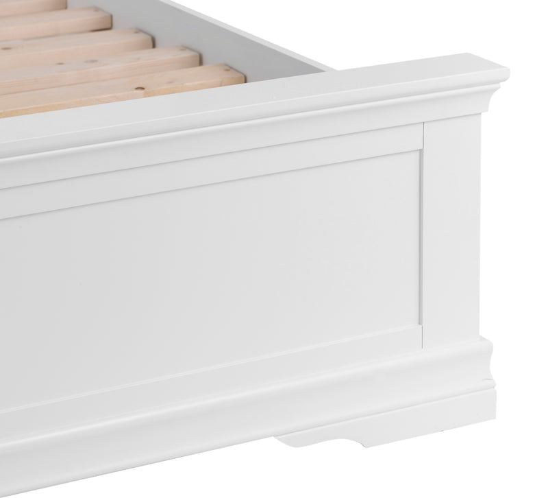 Seville White 5'0 King Size Bed