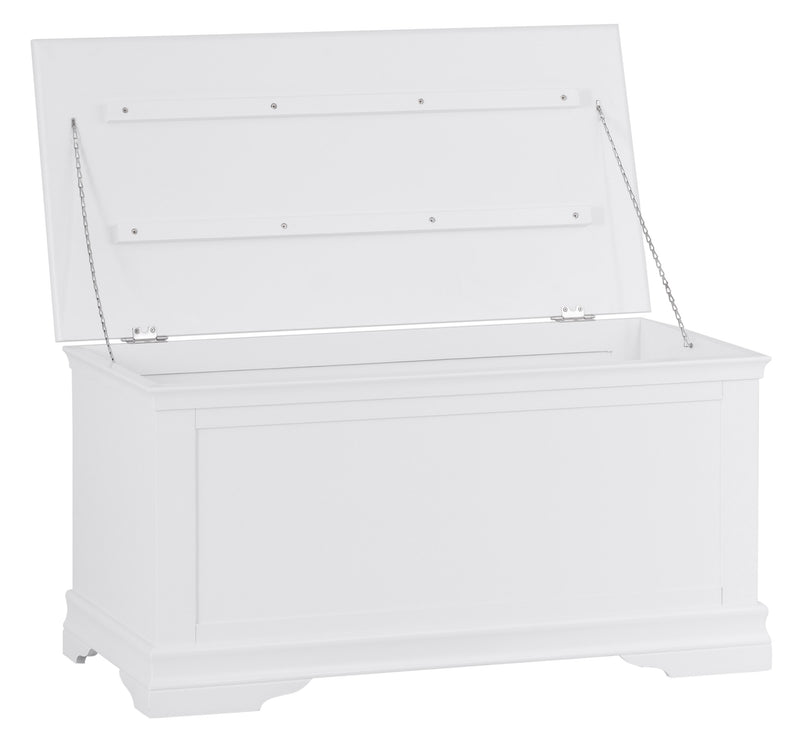 Seville White Blanket Box
