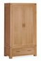 Sherwood Oak Gents Double Wardrobe with Drawer