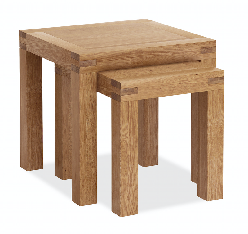 Sherwood Oak Nest of 2 Tables