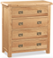Salisbury Oak 4 Drawer Chest