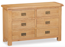 Salisbury Oak 6 Drawer Wide Chest