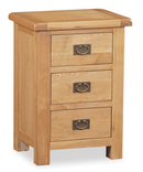 Salisbury Oak Wide Bedside Table