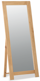 Salisbury Oak Cheval Floor Standing Mirror