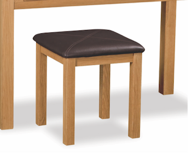 Salisbury Oak Triple Dresser Stool