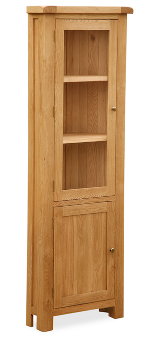 Salisbury Oak Corner Display Cabinet