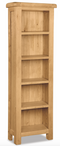 Salisbury Oak Slim Bookcase