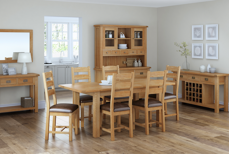 Salisbury Oak Dining Chair with PU Seat