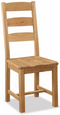 Salisbury Oak Slatted Chair with Wooden Seat