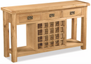 Salisbury Oak Open Sideboard with Wine Rack