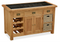 Salisbury Oak Kitchen Island with Wicker Baskets
