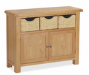 Salisbury Oak Sideboard with Wicker Baskets