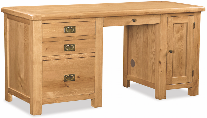 Salisbury Oak Double Computer Desk