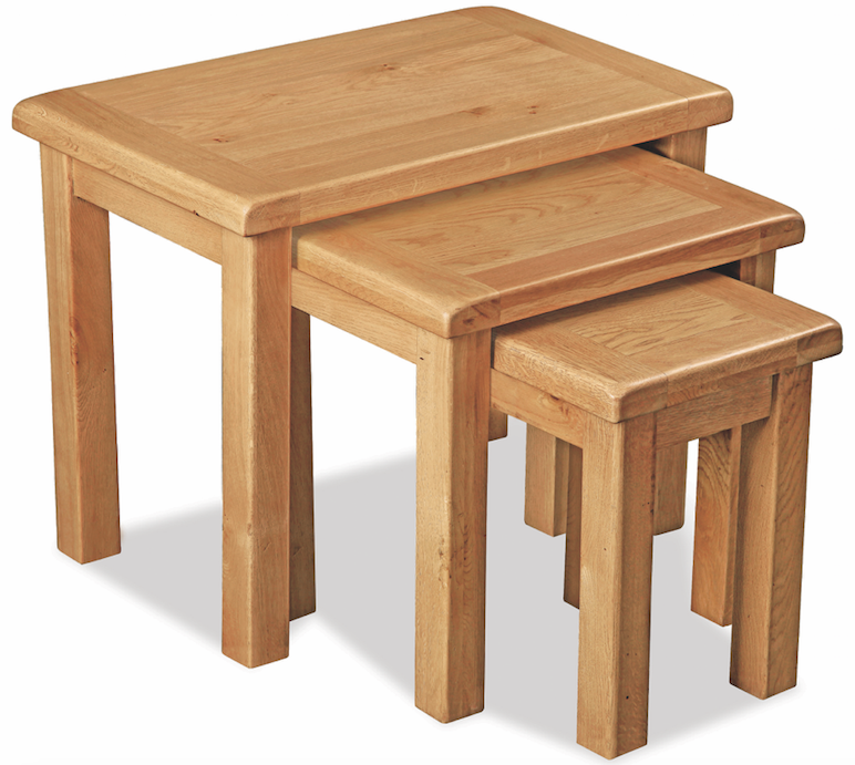 Salisbury Oak Nest of 3 Tables