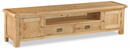 Salisbury Oak Extra Large Low Line TV Unit (Width 200cm)