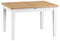 St Ives Hand-Painted White 1.2m Butterfly Extending Table (120-165cm)