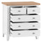 St Ives Hand-Painted White 2 Over 3 Chest of Drawers