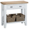 St Ives Hand-Painted White Console Table with Baskets