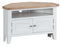 St Ives Hand-Painted White Corner TV Unit