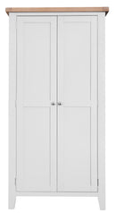 St Ives Hand-Painted White Full Hanging Wardrobe