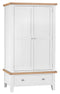 St Ives Hand-Painted White 2 Door 1 Drawer Wardrobe
