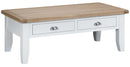 St Ives Hand-Painted White Large Coffee Table with Drawers