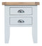 St Ives Hand-Painted White Lamp Table with Drawers