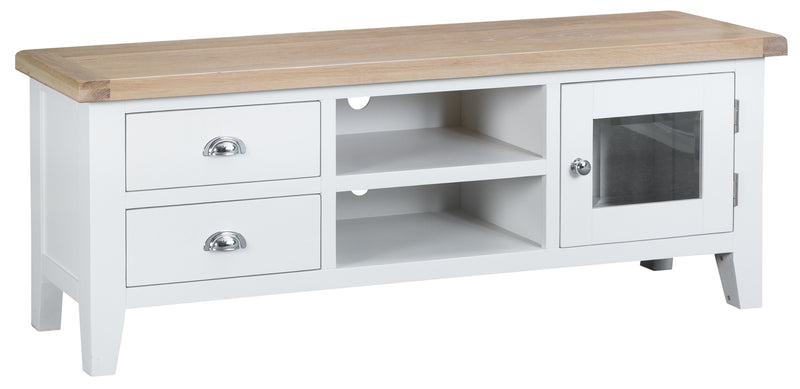 St Ives Hand-Painted White Standard Large TV Unit (Width 150cm)