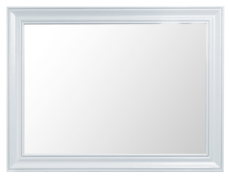 St Ives Hand-Painted White Small Wall Mirror