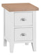 St Ives Hand-Painted White Bedside Table