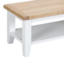 St Ives Hand-Painted White Small Coffee Table
