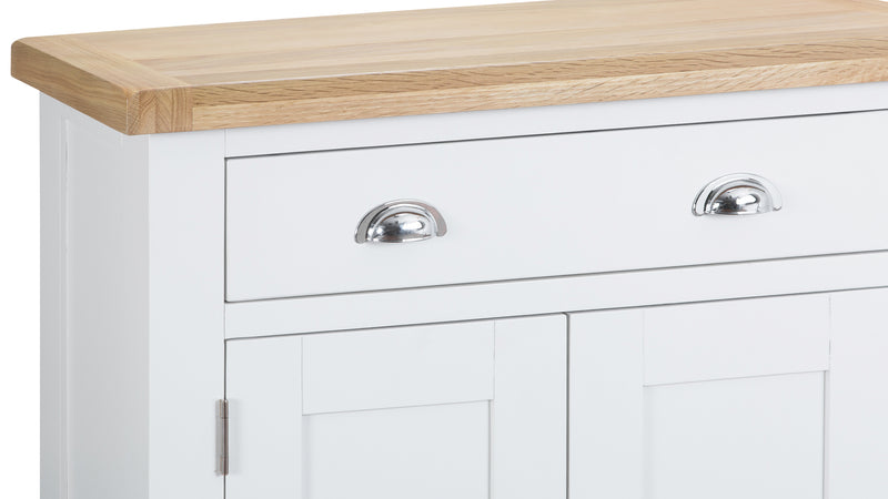 St Ives Hand-Painted White Small Sideboard